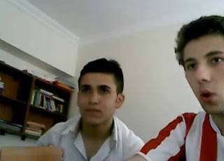 Dois amigos turcos na cam