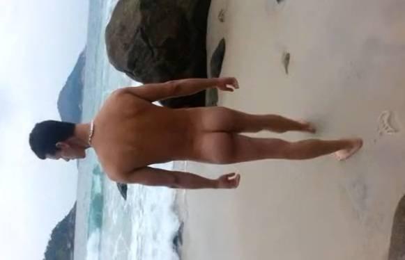 [Amador Gay] Garoto de Programa Renbri, dando na praia