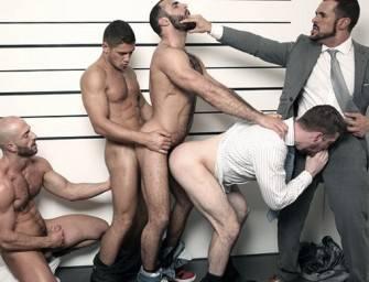 Scott Hunter, o inspetor dando para os suspeitos
