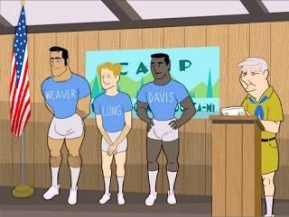 Cartoon Gay – Caras fazem muito sexo no Acampamento