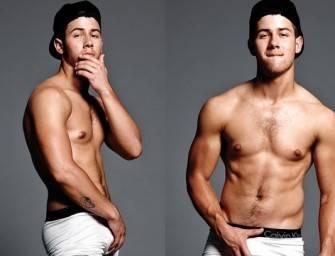 Nick Jonas tira fotos sensuais só de cueca pegando na mala