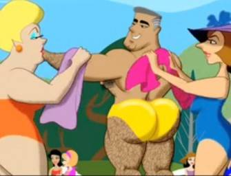 Cartoon Gay – Putaria nos fundos do clube de piscina
