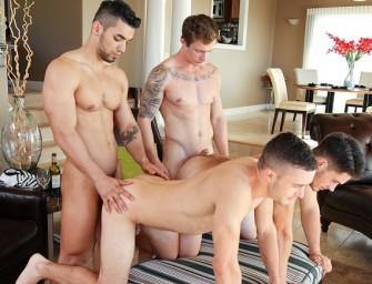 Markie e Arad comendo os safados Colt e Jordan