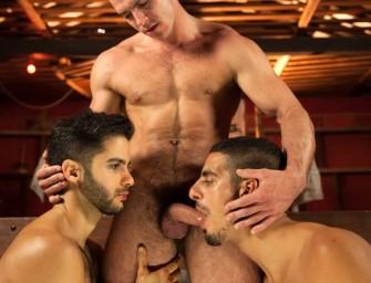 Paddy fode os dois safados, Tony e John, no quartinho