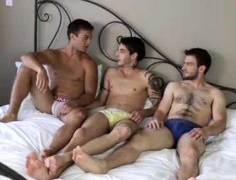 Trio sensação mostra como se faz um threesome tesudo