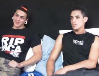 """Latinos safados fazem """"gay for pay"""" por dinheiro"""