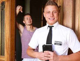 Jovem mórmon vai converter malandro e toma no cu