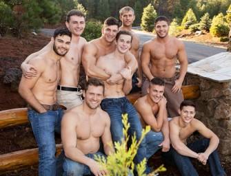 Escapadinha de inverno com nove machos fantásticos