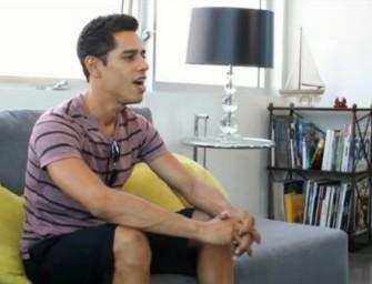 Morenão sorridente faz teste do sofá para fazer pornô