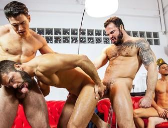 Will Braun enfia vários paus de macho na boca