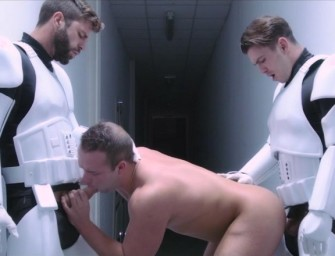 "Luke Adams é esfolado na paródia gay de ""Star Wars"""