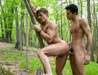 Curtindo o ar livre com um macho roludo e safado