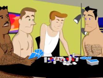 """Jogando """"strip poker"""" com os amigos do papai"""