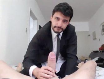 Marcos Goiano dando o rabo para dois caras