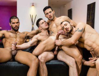 Andy Star dá o cu para Paddy O'Brian e outros dois machos