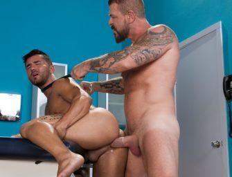 Rocco Steele faz um exame de próstata espetacular em brasileiro