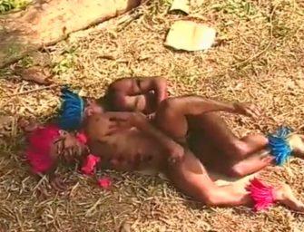 Índios curtem livremente a vida deliciosa na mata
