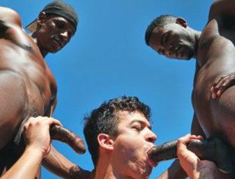 Brasileiro encara dois negros bem dotados. Será que ele dá conta?