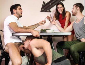 Diego trai a esposa com o primo dela e o namorado gostosão dele