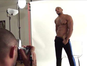Modelo gay: fotógrafo não resiste a modelo delicioso e mama gostoso