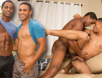 Negro gay: jovem descobre a força da pica do parceiro safado