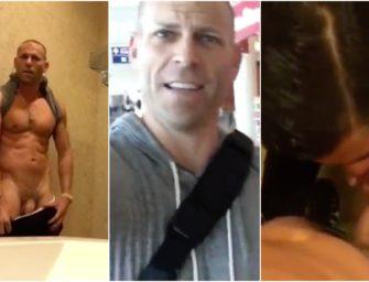 Bafão!!! Astro pornô recebe babada de comissário no banheiro do aeroporto