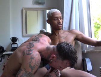 Yuri Safado fuma um baseado e faz troca-troca com gringo tatuado