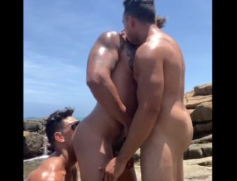 Brasileiros safados em putaria amadora na praia com muita metelança