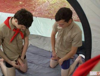 Líder do camping fez questão de dar para jovens provarem suas habilidades