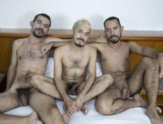 Sexo trio de peludos com Cesar Maldonato, Hidex e judoca