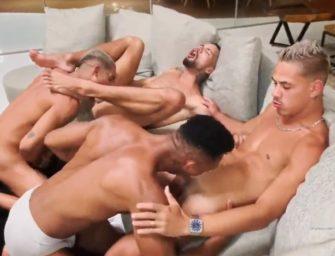 Brasileiros aprontam em mega suruba amadora na chapa só no tesão