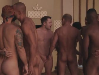Casa de veraneio vira palco de suruba para vários machos gozarem