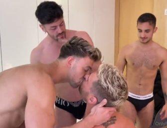 Igor Miller promove encontro com vários machos e muita fudelança